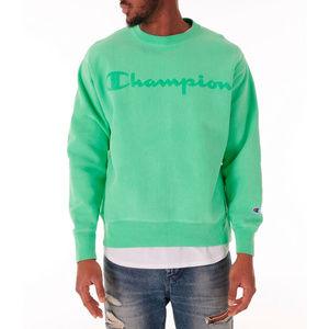 Champion Reverse Weave Lt Green Crew Neck Pullover